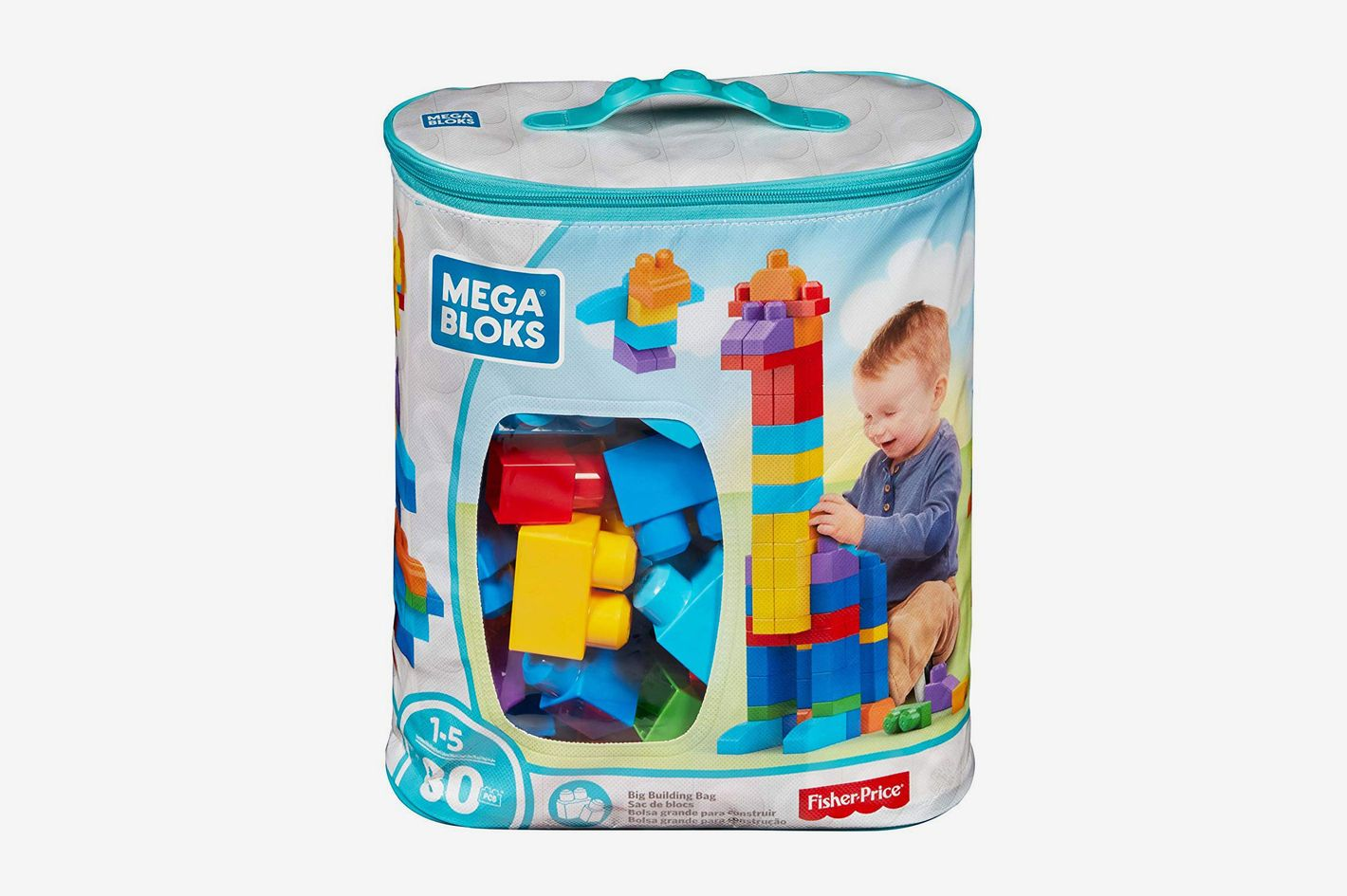 Mega Bloks 80 Piece Big Building Bag