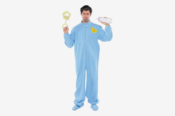 AMSCAN Blue Footie Pajamas Halloween Costume