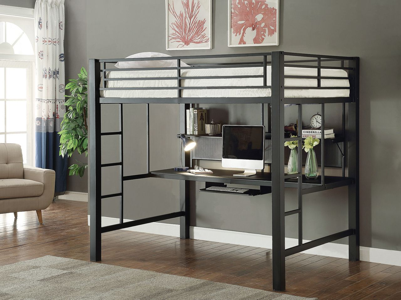 Coaster Home Furnishings Avalon Full Workstation Loft Bed Black