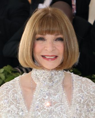 Anna Wintour at the 2018 Met Gala