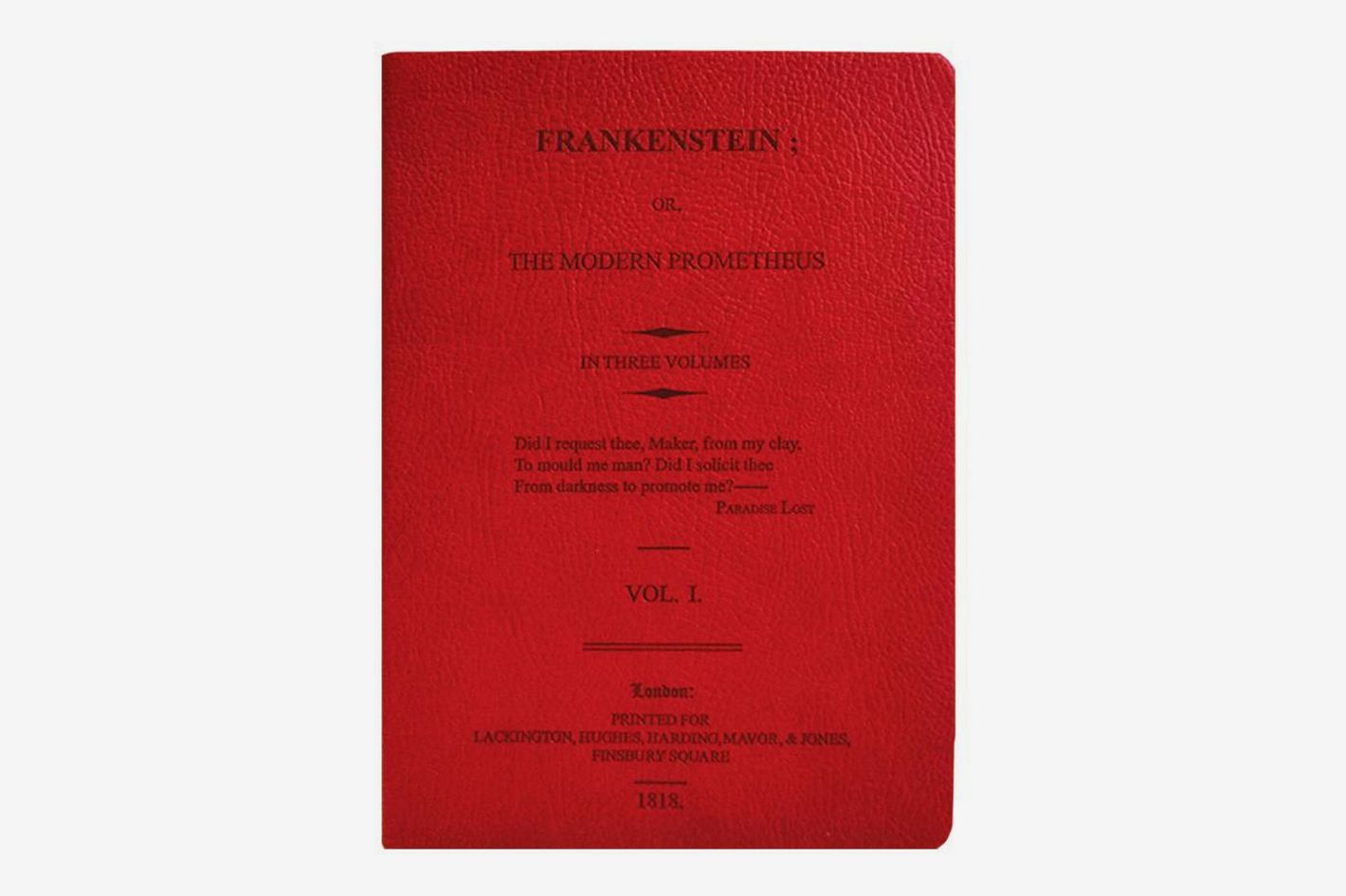 Discovery Books Frankenstein Dark Red Lined Journal