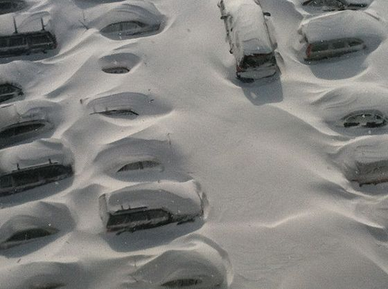 "Snow piled car-high <a href=""http://twitpic.com/c27kih"">in Bridgeport, Connecticut</a>."