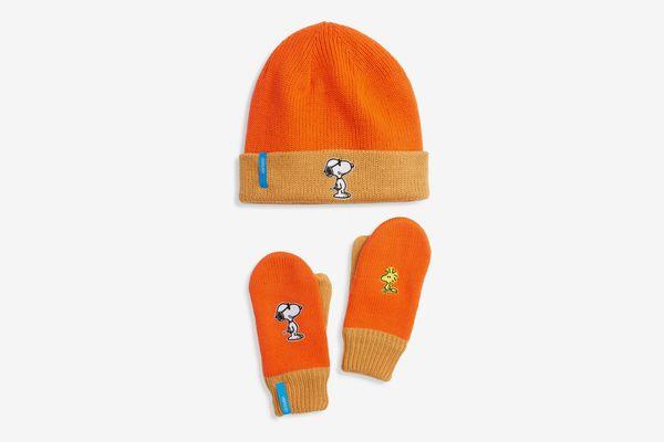 Verloop x Peanuts Reversible Beanie & Gloves Set