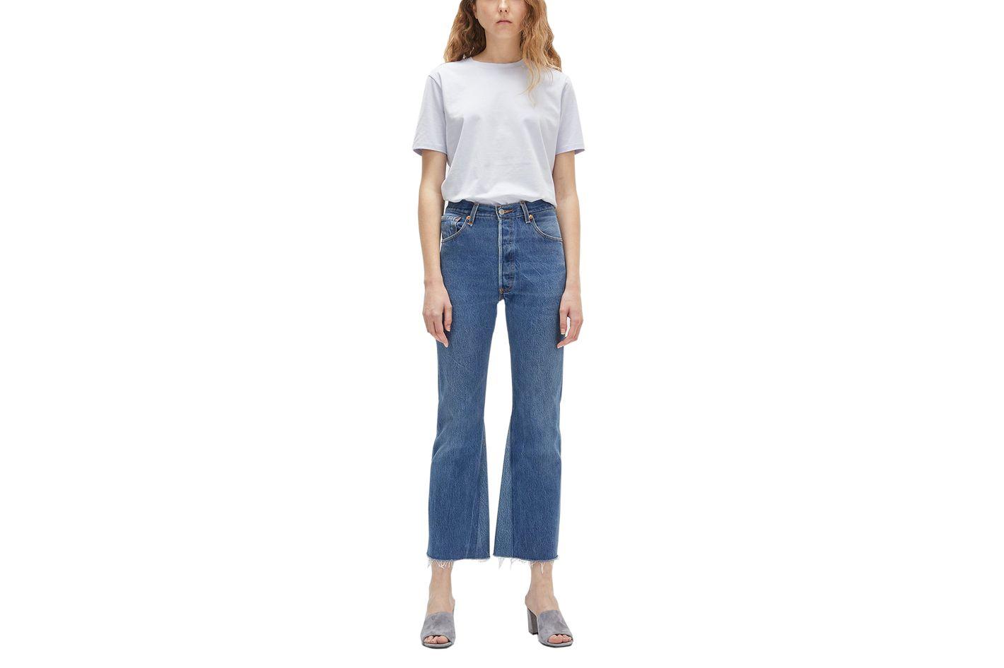 Re/Done x Levi's High Rise Flare Crop Jean