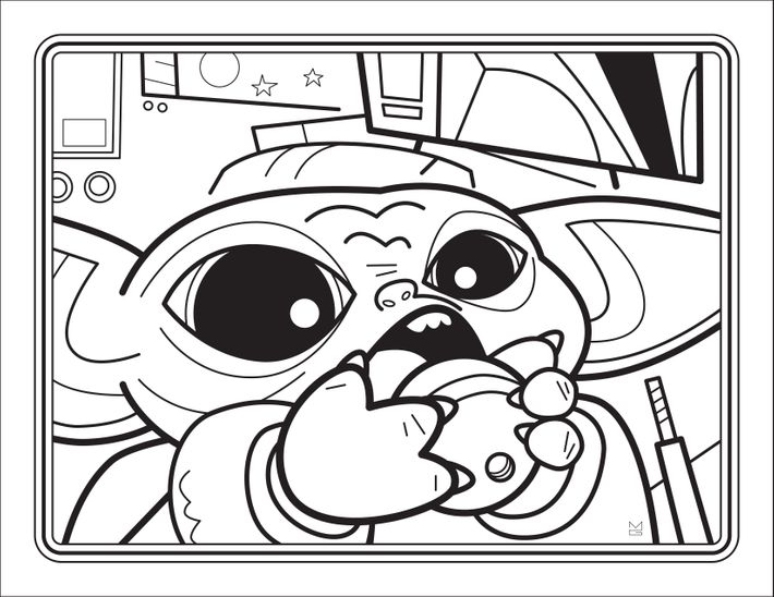 The Unofficial Baby Yoda Coloring Book