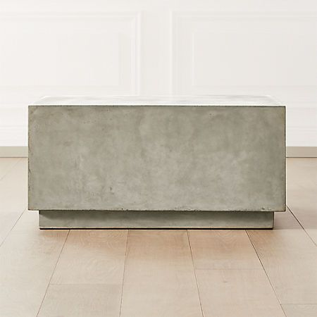 CB2 Matter Grey Cement Square Coffee Table