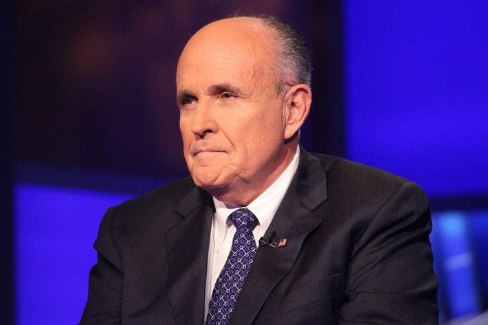 "Rudy Giuliani visits ""Cavuto"" at FOX Studios on September 23, 2014 in New York City."