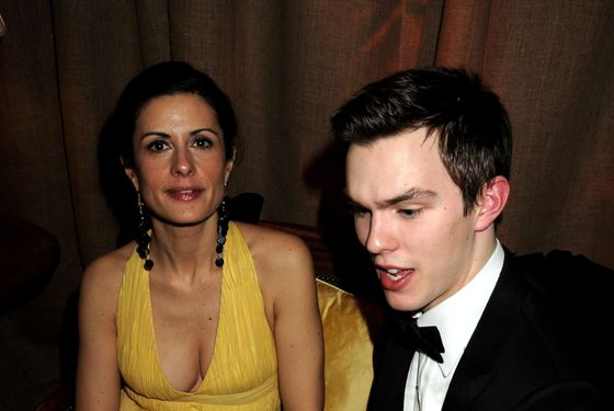 Livia Giuggioli and Nicholas Hoult attend the BAFTA Soho House Grey Goose after party at the Grosvenor House Hotel on February 21, 2010 in London, England.