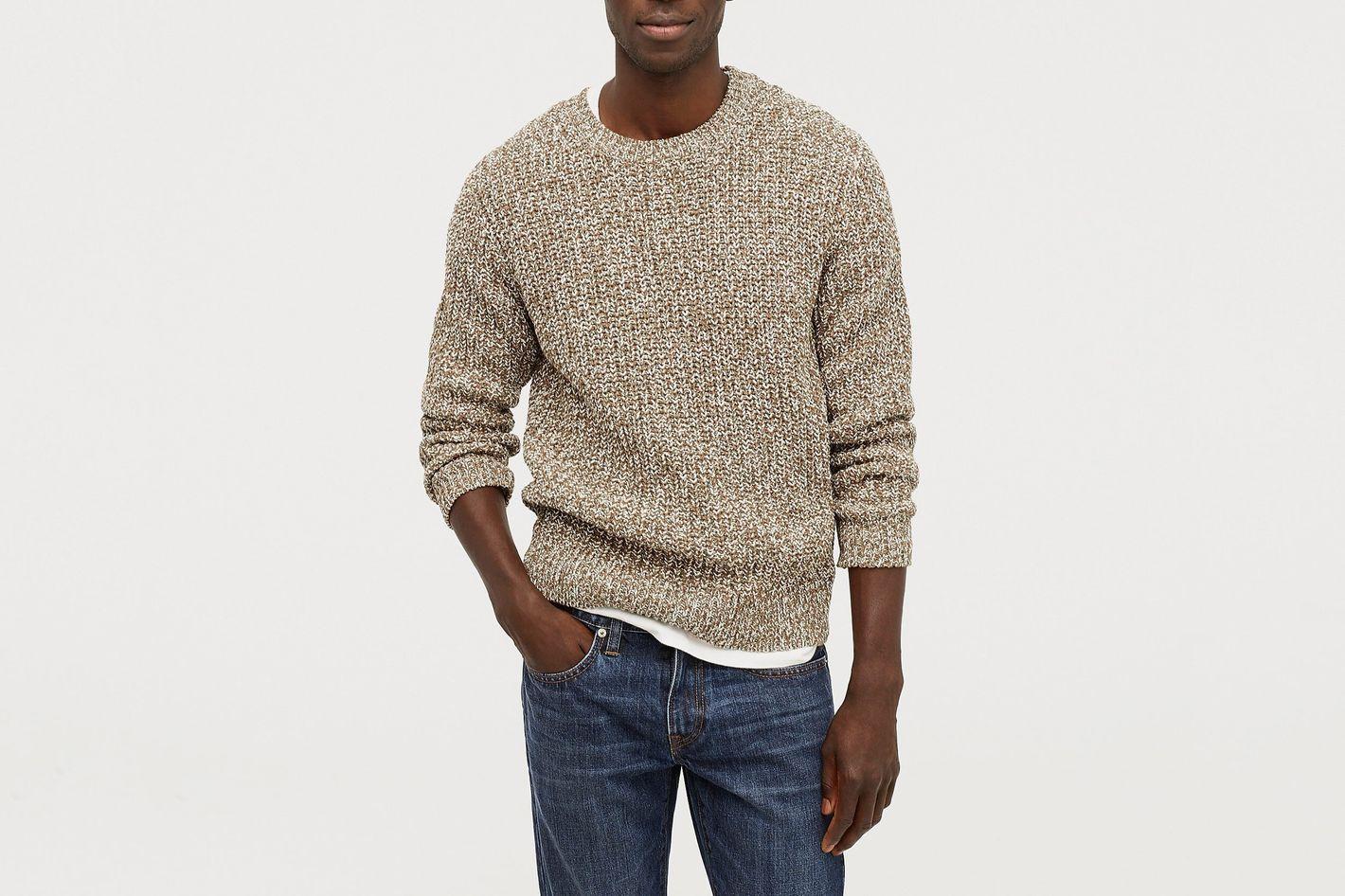 J. Crew Wallace & Barnes Crewneck Sweater in Marled Italian Cotton