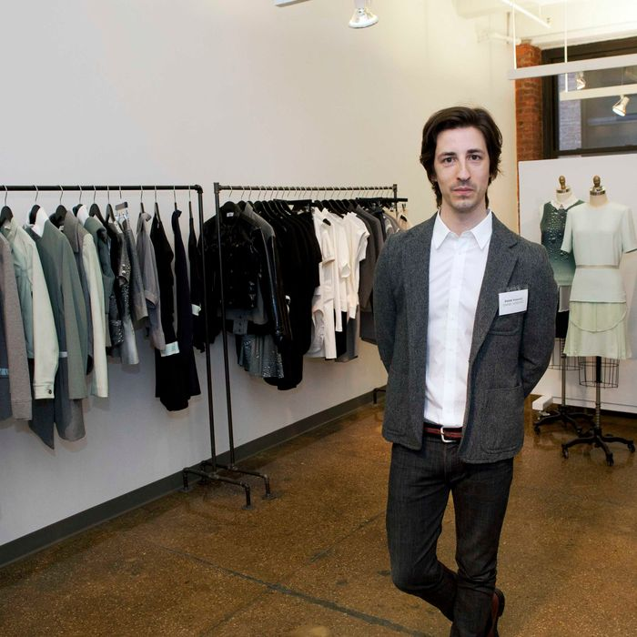 Daniel Vosovic at his CFDA Incubator Space