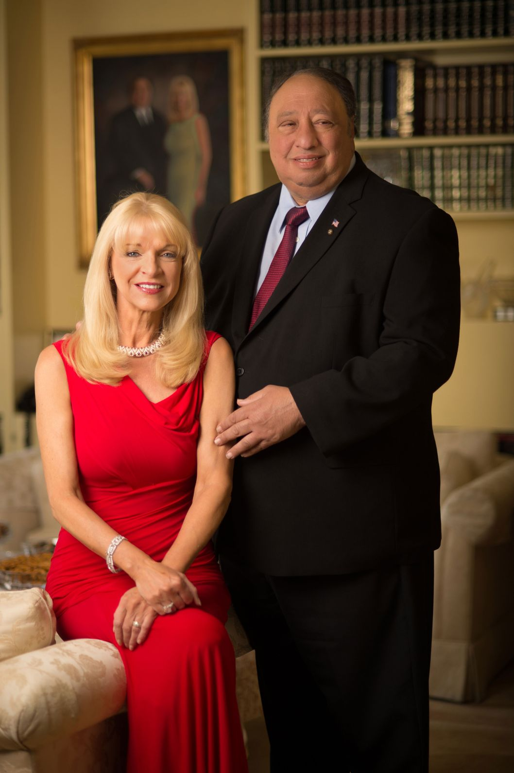 NEW YORK, NY - JUNE 18:  Margo Vondersaar and John Catsimatidis pose during a Resident Magazine photo shoot on June 18, 2013 in New York City.  (Photo by Andrew H. Walker/Getty Images)
