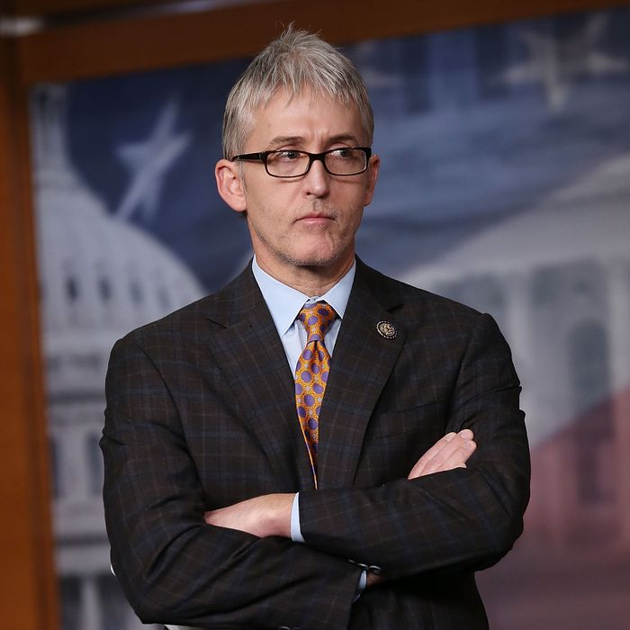 WASHINGTON, DC - APRIL 25: Rep. Trey Gowdy (R-SC) participates in a news conference on immigration, on Capitol Hill, April 25, 2013 in Washington, DC. The news conference was held to discuss immigration control issues that are before Congress. (Photo by Mark Wilson/Getty Images)