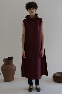 Issey Miyake Cantabile Funnel-Neck Dress
