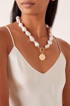 Maison Irem Baroque Pearl & Coin Choker