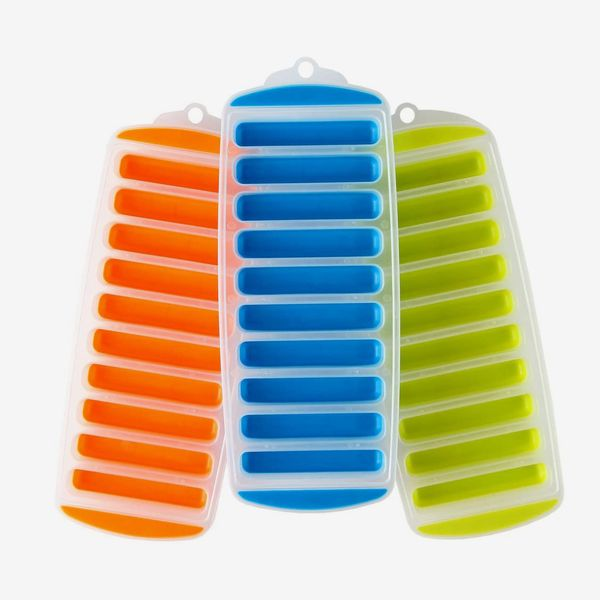 Lily's Home Silicone Narrow Ice Stick Cube Trays (Set of 3)
