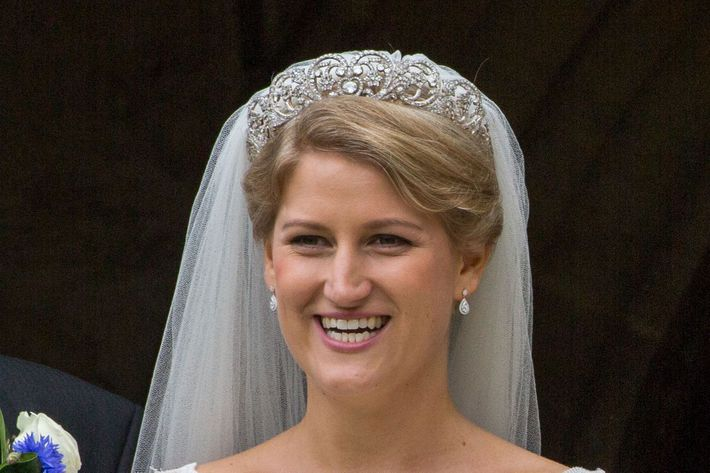 Celia McCorquodale in the Spencer Tiara.