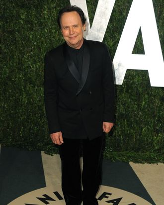Actor Billy Crystal arrives at the 2012 Vanity Fair Oscar Party