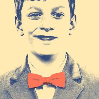 Boy wearing bow tie.