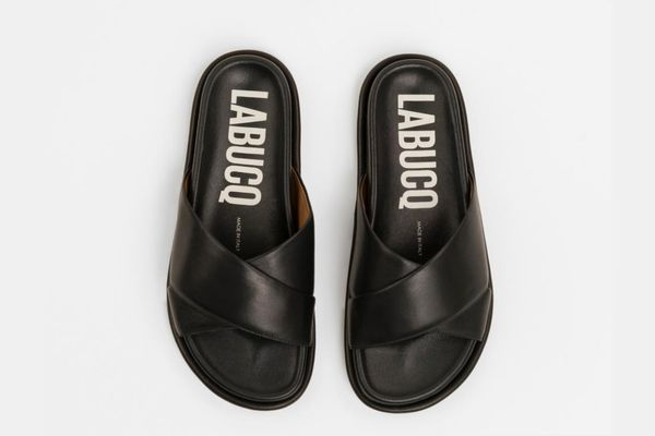 Labucq Mo Slide Black Nappa