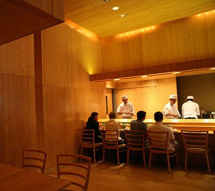 This pristine midtown sushi temple climbs five spots despite the departure of its revered founder, Naomichi Yasuda, who returned last year to Japan. That's because the Zen-like peacefulness of the room is unchanged, and Yasuda's prize pupils, Mitsuru Tamura and Tatsuya Sekiguchi, are producing pristine flights of yellowtail and top-grade o-toro tuna belly, just like the master used to. The range of fish flown in from around the globe is unrivaled, and if you have the cash, or the expense account, the exorbitantly pricey, no-frills menu is still the closest thing you'll find in New York to a classic sushi dinner in Tokyo.