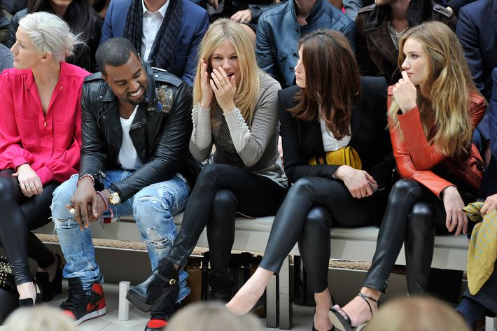 Kanye West, Sienne Miller, Gemma Arterton, Rosie Huntington-Whiteley.