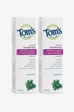 Tom's of Maine Antiplaque and Whitening Fluoride-Free Toothpaste, Peppermint