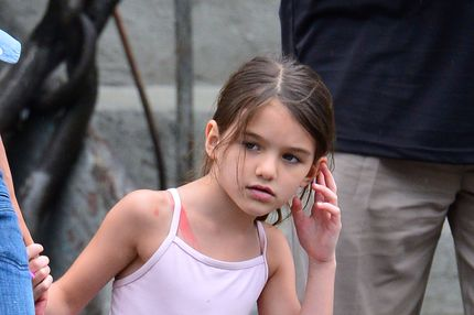 Suri Cruise seen leaving Pastis in the Meatpacking District on July 29, 2012 in New York City.