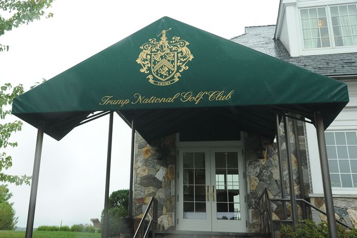 An entrance to the Trump National Golf Club in Westchester, New York.