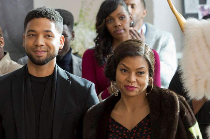 """EMPIRE: Pictured L-R: Jussie Smollett and Taraji P. Henson in the """" The Tameness Of A Wolf"""" episode of EMPIRE airing Wednesday, April 13 (9:00-10:00 PM ET/PT) on FOX. ©Fox Broadcasting Co. CR: Chuck Hodes/FOX"""