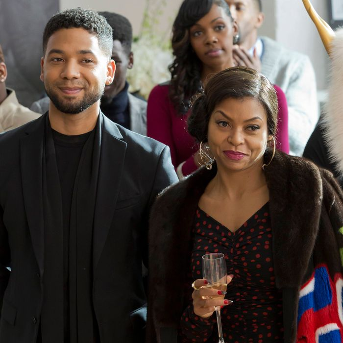 EMPIRE: Pictured L-R: Jussie Smollett and Taraji P. Henson in the