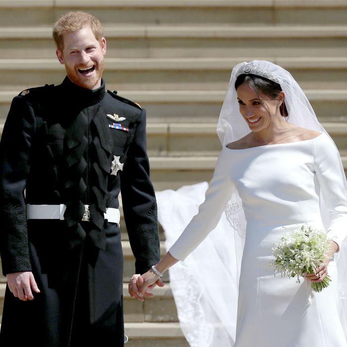 Prince Harry and Meghan Markle at the royal wedding.