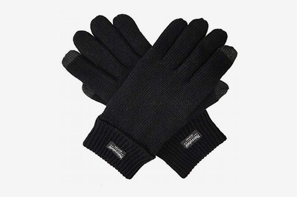5ca6c51bc9d9c Bruceriver Men's Pure Wool Knitted Gloves with Thinsulate Lining