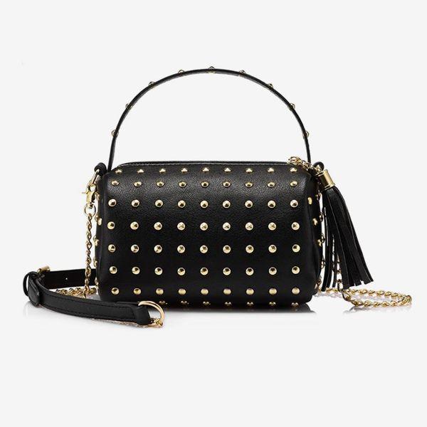 Shoulder Bag With Bling Rivets