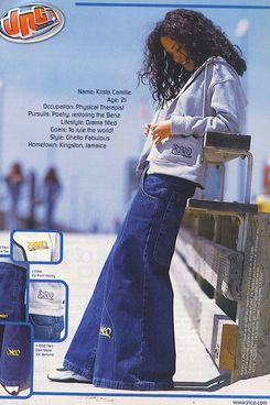 An old-school JNCO ad.