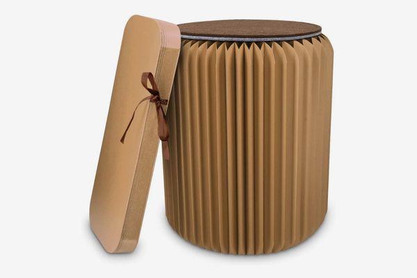 Navaris Folding Kraft Paper Stool