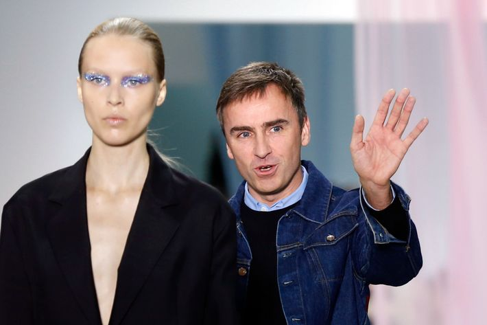 Raf Simons at Dior.