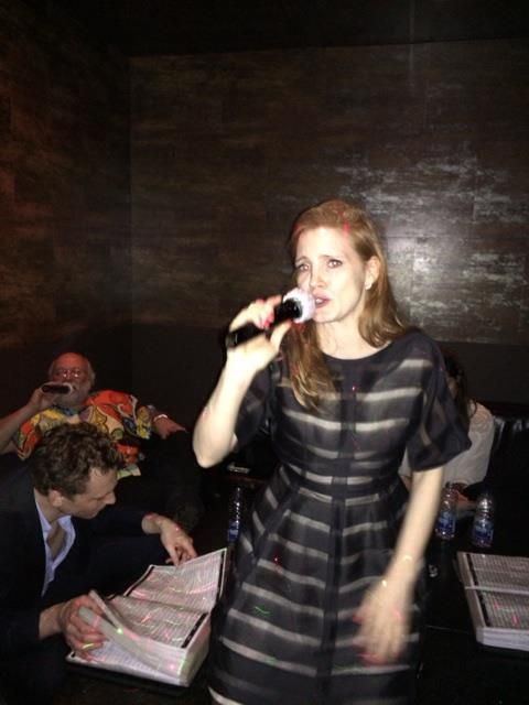 Chastain And Hiddleston Did Karaoke Together Vulture