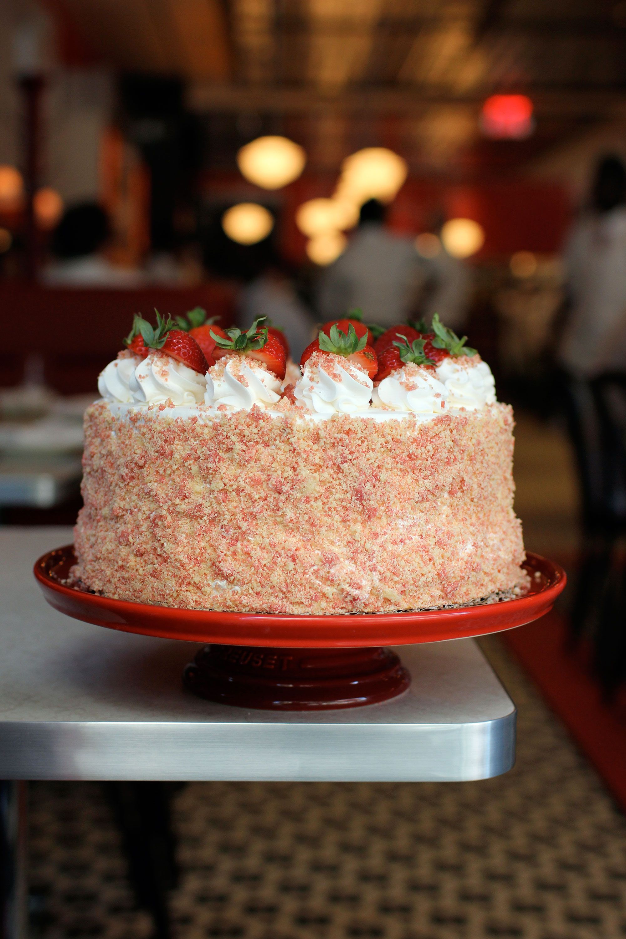 strawberry shortcake ice cream cake let s just eat all of parm s cakes today grub 7772