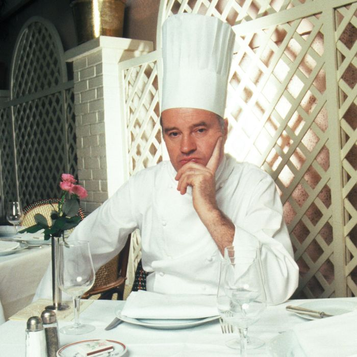 André Soltner at his restaurant, Lutèce.