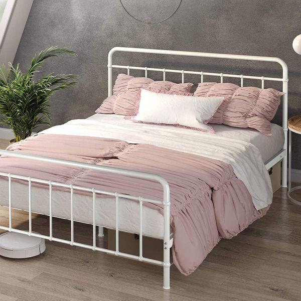 Zinus Florence Metal Platform Bed Frame, Queen