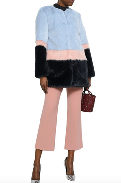 Shrimps Colour-Block Faux Fur Coat