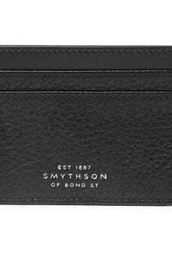Smythson Burlington Two-Tone Full-Grain Leather Cardholder