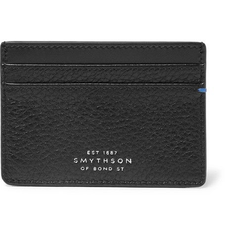 Smythson Burlington Two-Tone Full-Grain Leather Cardholder
