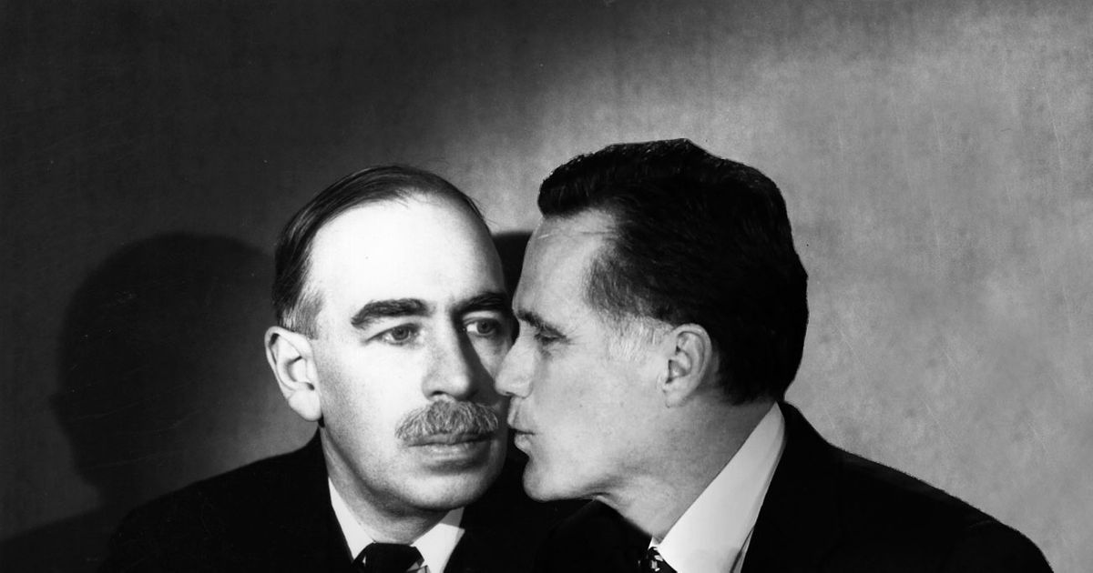 Romney Economics >> Romney's Big Fat Wet Kiss to Keynesian Economics
