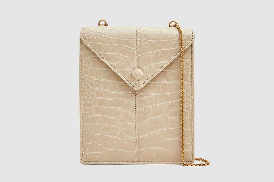 Nanushka Tove Croc-Embossed Bag
