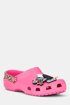 Barneys New York x Crocs Pink Rubber Clogs