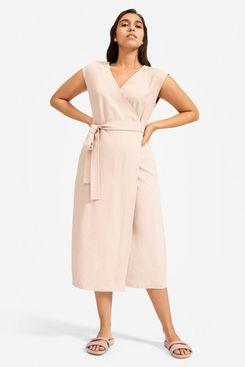 Everlane the Japanese GoWeave Short-Sleeve Wrap Dress