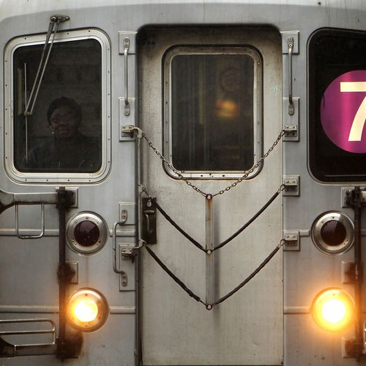 A New York City Subway pulls up to a station on February 23, 2010 in New York City.
