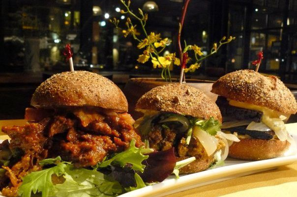 Chef Ayinde Howell's vegan sliders.