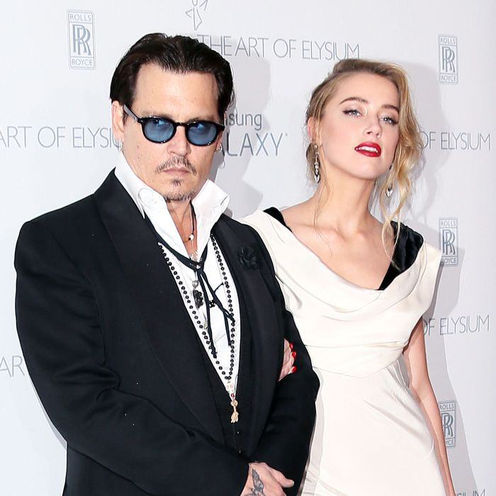 Johnny Depp, Amber Heard.